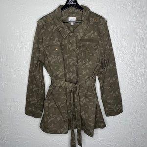 Market & Spruce Plus Size Camouflage Utility Coat